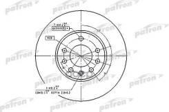 Диск Тормозной Передн Opel: Calibra A 03.92-07.97, Speedster 09.00-, Vectra B 10.95-04.02, Vectra B Хечбэк 10.95-07.03, Vectra B Универсал 11.96-07.03, Saab:9-3 02.9 Patron арт. PBD2778