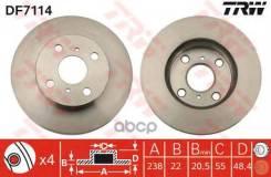 Диск Тормозной Trw Df7114 Corolla 1.6 97-00 TRW арт. DF7114