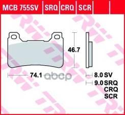 Колодки Торм. Пер. Moto TRW арт. MCB755SV