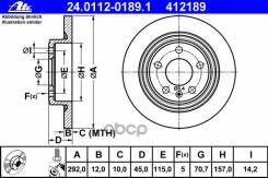 Диск Тормозной Задний Chevrolet Cruze 09- Ate арт. 24.0112-0189.1