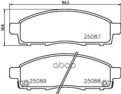 Колодки Дисковые Передние Brembo арт. P54055