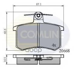 Колодки Зад Alfa 164/Fiat Croma/Lancia Thema 1.6-3.0 Comline арт. CBP0558 Cbp0558 Comline