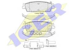 Колодки Дисковые Задние! Cadillac Escalade, Chevrolet Avalanche/Silverado/Tahoe 07> Icer арт. 182139 182139_