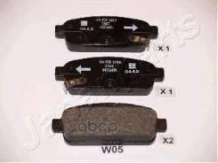 Колодки Тормозные Дисковые Japanparts арт. PP-W05AF Japanparts PPW05AF