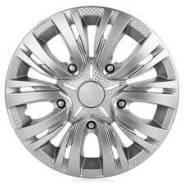 Колпаки колесные Лион 14 (серебристый/карбон, 2шт) AWCC-14-01