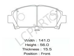 Колодки тормозные передние Toyota Caldina