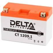 Мото аккумулятор Delta MOTO CT 1209.1 AGM YT9B-BS (9Ач п/п) Delta