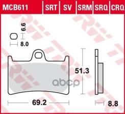 Колодки Торм. Пер. Moto TRW арт. MCB611SV