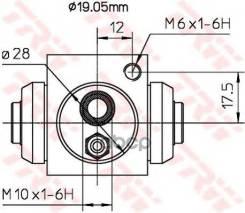 Раб. Торм. Цил. Opel Corsa 94-02 5 50 153 TRW арт. BWD119A TRW BWD119A