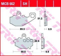 Колодки Торм. Зад. 68.0 X 54.5 X 9.8 Mm/90.0 X 51.5 X 8.7 Mm Moto TRW арт. MCB662