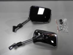 Зеркала универсальные Honda Suzuki Kawasaki прямоугольные хром