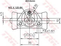 Цилиндр Колесный Lada 2101-2112 Bwf150 TRW арт. BWF150