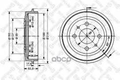 Барабан Тормозной! Fiat Brava/Bravo/Tipo/Tempra 1.1-1.9td 88-95 Stellox арт. 6025-2309-SX 6025-2309-Sx_