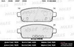 Колодки Тормозные Дисковые Задние Chevrolet Cruze 09-/Orlando 11-/Opel Astra J 10 Miles арт. E110056 Miles E110056