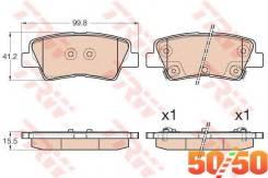 Комплект тормозных колодок GDB3537 TRW