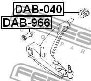 Сайленблок передний переднего рычага DAB966