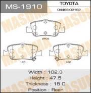 Колодки тормозные дисковые MASUMA MS1910