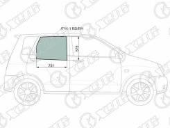 Стекло заднее правое опускное Mitsubishi Dingo 98-02/Hafei Simbo 06-08 XYG JT441RDRH