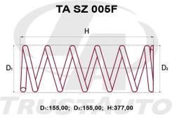 Пружина усиленная FR Escudo Gr. Vitara TD54/94/419, правая передняя TRUSTAUTO TASZ005F