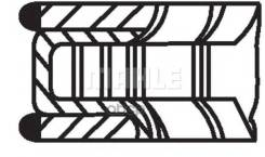 Колец Поршневых Комплект 0,074 Aro 10/ Audi 100 (44, 44q, C3)/ Audi 100 Avant (44, 44q, C3)/ Audi 200 (44, 44q)/ Audi 200 Avant (44, 44q)/ Audi 80 (81, 85, B2)/ Audi 80 (89, 89q, 8a, B3)/ Audi 80 (8c2, B4)/ Audi 80 Avant (8c5, B4)/ Audi 90 (81, 85, B...