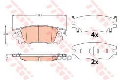Колодки Торм Диск К-Т Задн Lexus Nx 2014 TRW арт. gdb4459
