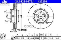 Диск Тормозной Передний! Toyota Urban Cruiser/Verso S 1.3-1.5i/D-4d 09> Ate арт. 24.0122-0276.1 24.0122-0276.1_