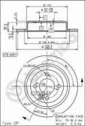 Диск Тормозной Задний! Rover Mini One/Cooper 1.6/1.4d 01> Brembo арт. 08916310 08.9163.10_