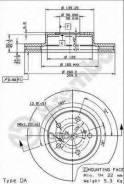 Диск Тормозной Перед.! Subaru Impreza Coupe 1.6 93-00 Brembo арт. 09567311 09.5673.11_