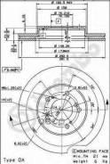 Диск Тормозной Передний Honda Cr-V I/Hr-V/Odussey / Acura Legend Iii Brembo 09.6893.14 Brembo арт. 09.6893.14