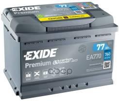 Аккумуляторная Батарея! 19.5/17.9 Евро 77ah 760a 278/175/190 Carbon Boost Exide арт. EA770 Exide Ea770 Premium_