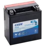Аккумулятор Для Мототехники Exide Agm 12 V 18ah 230a Etn 1 (L+) B0 150x90x160mm 5.7kg Exide арт. ETX20CH-BS