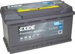 Аккумуляторная Батарея! 19.5/17.9 Евро 100ah 900a 353/175/190 Carbon Boost Exide арт. EA1000 Exide Ea1000 Premium_