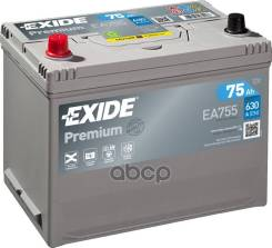 Аккумуляторная Батарея! 19.5/17.9 Рус 75ah 630a 270/173/222 Carbon Boost Exide арт. EA755 Exide Ea755 Premium_