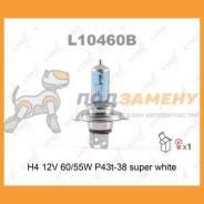 Лампа галогеновая H4 12V 6055W P43T-38 Super White нам LYNX / L10460B. Гарантия 24 мес.