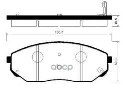 Колодки Торм. Kia Sorento 02- Asia HSB арт. HP1017