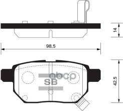 Колодки Дисковые Задние! Toyota Auris 1.4vvt-I -2.2d 07>/Yaris 1.0vvt-I 06> Sangsin brake арт. SP2094 Sp2094sns_