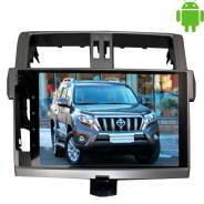 Штатная магнитола Toyota Prado 150 с 2014 г. LeTrun Intel 2153 Android 4.4 HH 10 дюймов 1+16 Gb