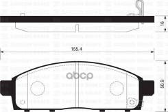 Колодки Тормозные Дисковые, Передние Mi Triton Kb9t 06-, L200 Iv 05-, Pajero/Montero Sport Kh4w (Kh0#) 08- Sangsin brake арт. SP1361