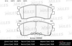 Колодки Тормозные (Смесь Low-Metallic) Kia Clarus 96-/Rio/Shuma 00-/Spectra (Иж) Передние (Без Датчика) (Trw Gdb3285) E400024 Miles арт. E400024