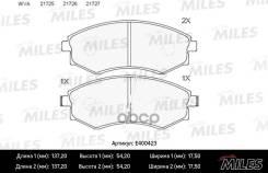 Колодки Тормозные (Смесь Low-Metallic) Hyundai Elantra/Matrix/Sonata/Ssangyong Rexton/Korando Передние (Без Датчика) (Trw Gdb895) E400423 Miles арт. E400423