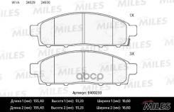 Колодки Тормозные (Смесь Low-Metallic) Передние (Mitsubishi Pajero Sport/Montero Sport 08/L200 05) (Без Датчика) (Trw Gdb3435) E400233 Miles арт. E400233