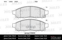 Колодки Тормозные (Смесь Semi-Metallic) Передние (Mitsubishi Pajero Sport/Montero Sport 08/L200 05) (Без Датчика) (Trw Gdb3435) E100233 Miles арт. E100233