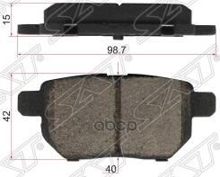 Колодки Тормозные Зад Toyota Corolla/Pontiac Vibe 06- Sat арт. ST-04466-12150