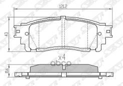 Колодки Тормозные Зад Lexus Nx200/Nx200t/300h 14- Sat арт. ST-04466-78020