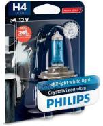 Лампа! (H4) 60/55w 12v Галогенная Crystalvision Moto (Блист.1шт) Philips арт. 12342Cvubw 12342cvubw_