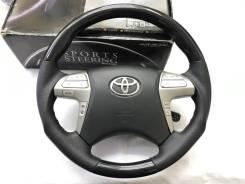 Анатомический обод руля Silk Blaze с чёрной косточкой Toyota