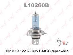 Лампа HB2 9003 12V 60/55W P43T-38 Super White LYNXauto L10260B