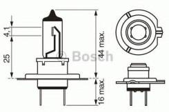 Лампа Longlife Daytime PLUS 10 H7 12V 55W Bosch 1987302078