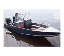 Лодка алюминиевая Wyatboat-390 M с 2 консолями