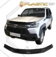 Дефлектор капота Classic черный ВАЗ Lada Niva Travel 2020-н. в. (изготовление) Plastics 1590